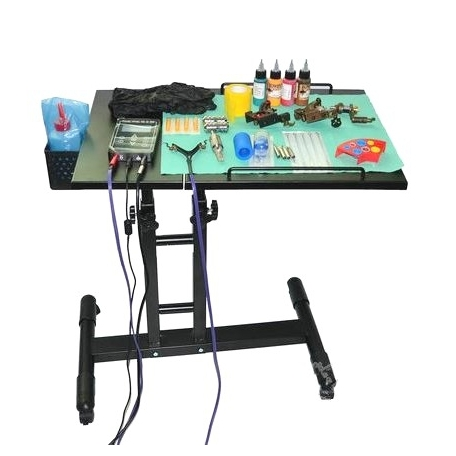 TABLE DE TATOUAGE PLIANTE A ROULETTES